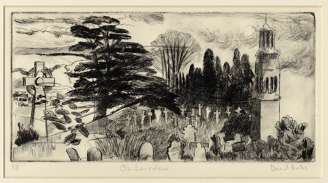 Title: On Lansdown; Drypoint; Edition 3 of 8