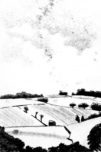 Title: Summer Landscape; Monoprint; Size - 40x30cm (framed); Price - £25 (unframed)